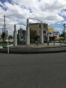 富士松駅前教室駅前ロータリー画像